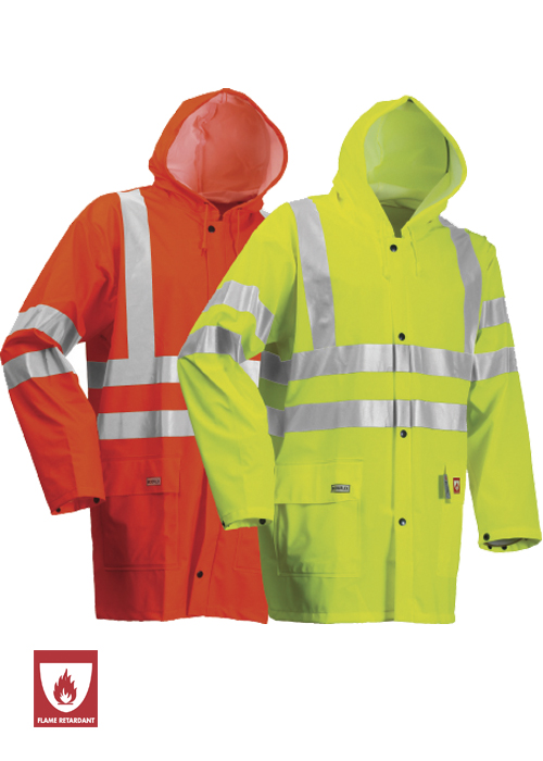 FR-LR55 | Flame-Retardant High-Visibility Rain Jacket
