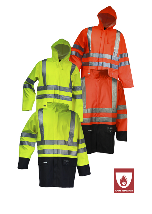 ARC-LR4055 | Flame-Retardant High-Visibility Rain Jacket