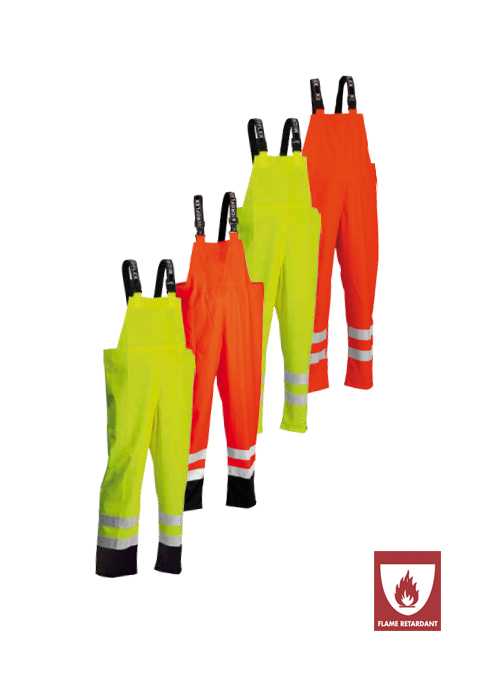 ARC-LR4059 |  Flame-Retardant High-Visibility Bib Trousers