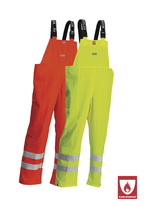 FR-LR59 | Flame-Retardant High-Visibility Bib Trousers