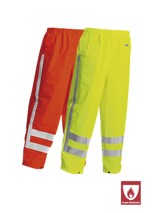 FR-LR52 | Flame-Retardant High-Visibility Rain Trousers