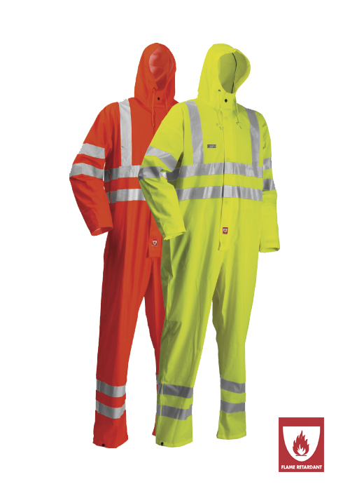 FR-LR57 | Flame-Retardant High-Visibility Coverall