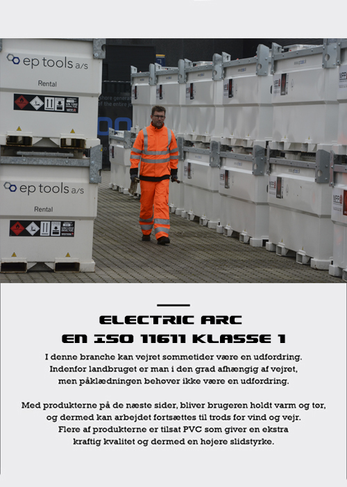 Electric ARC EN ISO 11611 Klasse 1